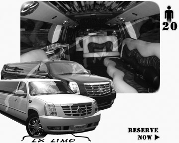 Cadillac Escalade 20 passenger SUV Limousine for rental in Albuquerque NM