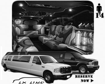 Lincoln Excursion SUV Limo for hire in Albuquerque NM